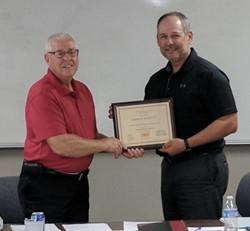 "Riehl earns ""Outstanding Treasurer"" award"