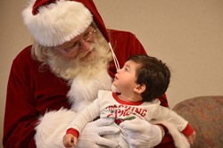 Santa and Mrs. Claus were at the Portsmouth Public Library on Dec. 8, meeting with children at the Help Me Grow Christmas Storytime.