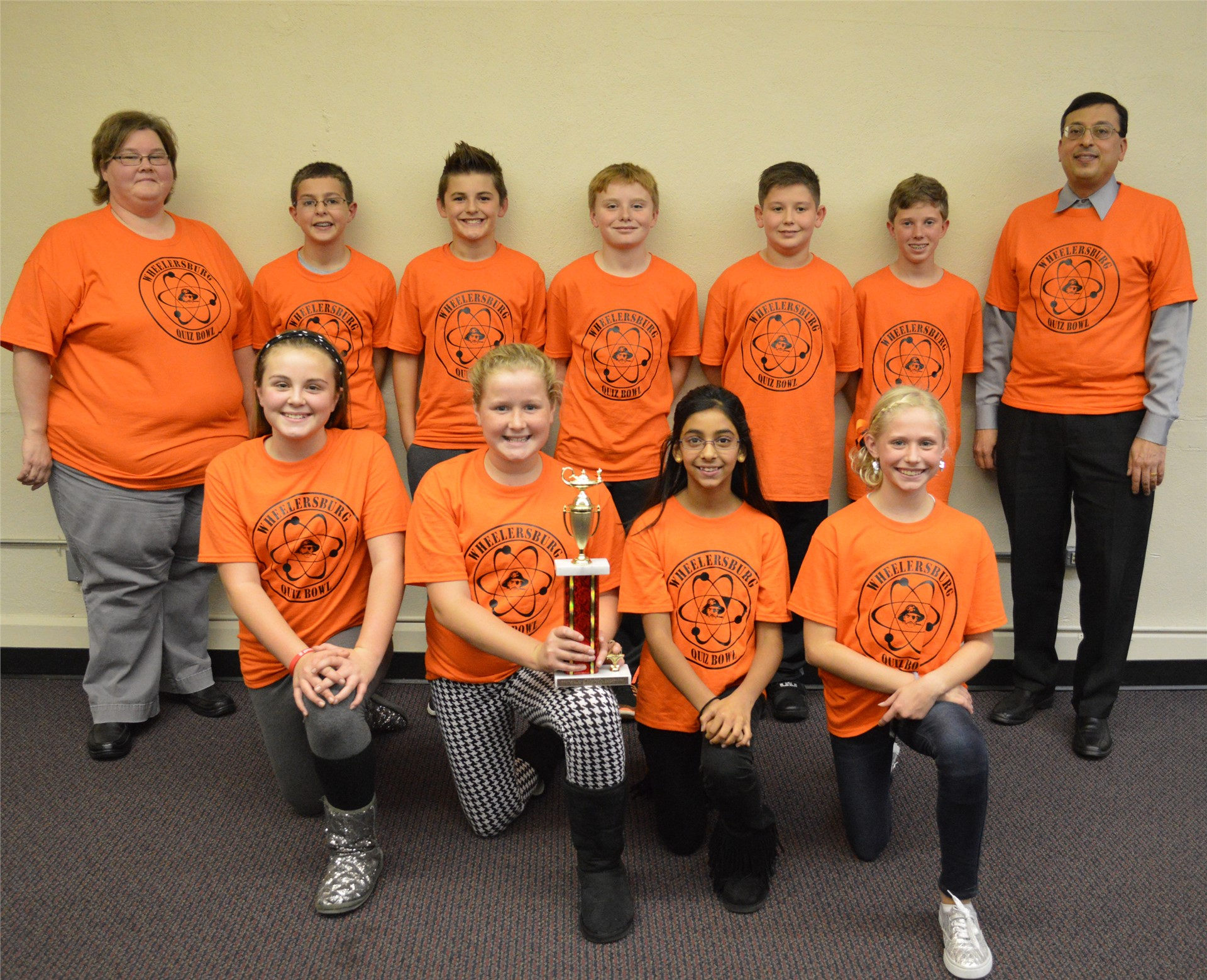 Wheelersburg Middle School, 2015 Quiz Bowl Runners Up