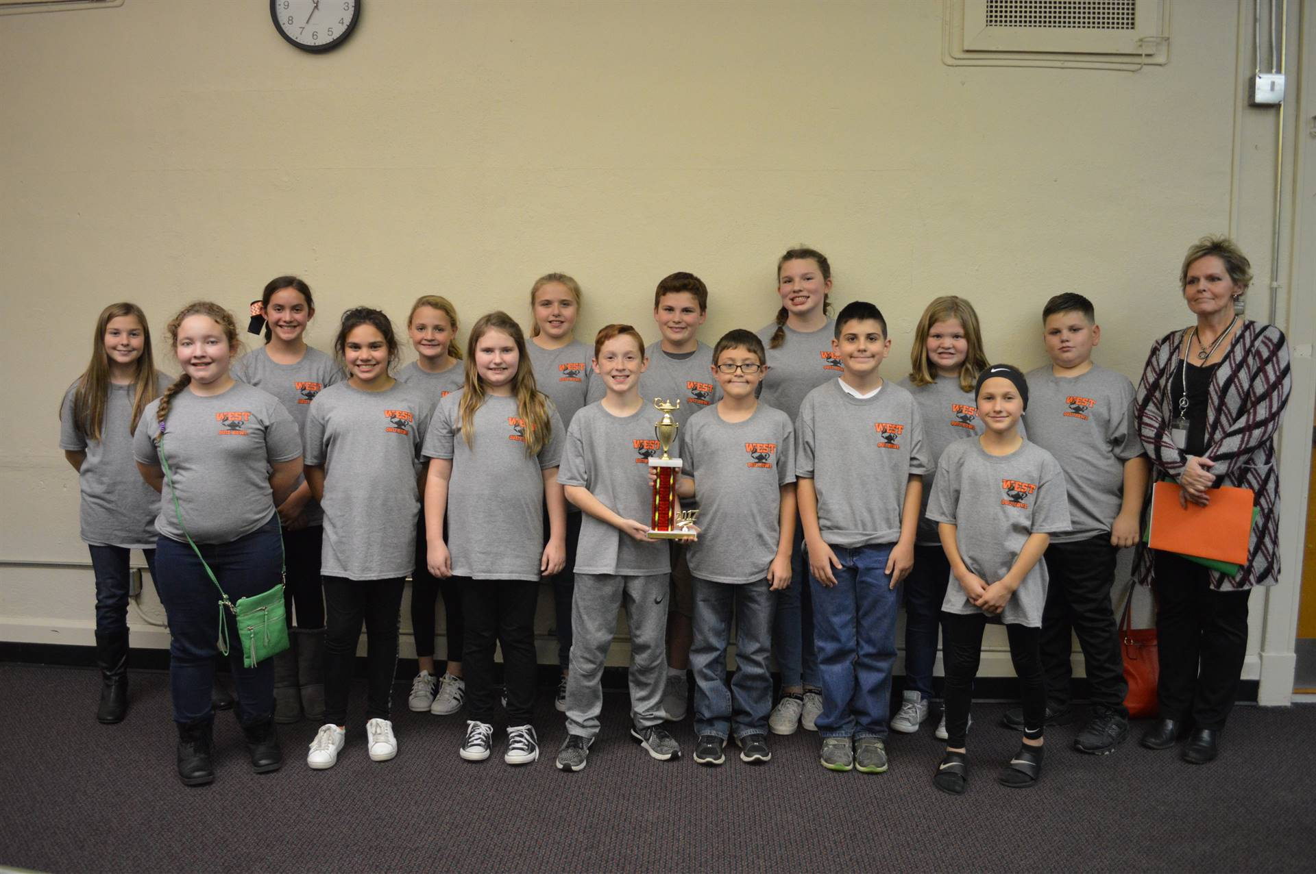 2017 Middle School Quiz Bowl Runners-Up