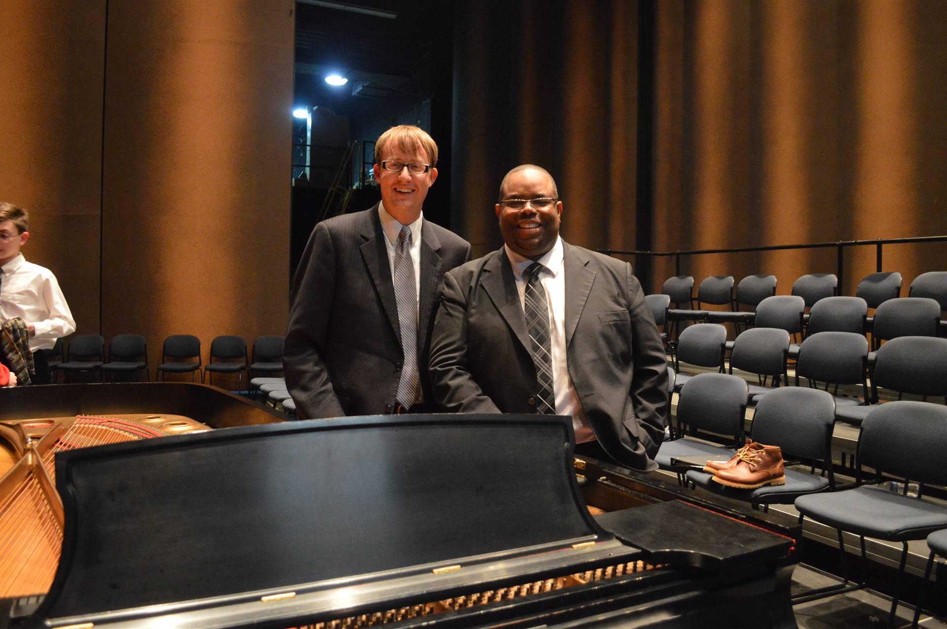 Guest Conductors, Dr. Brian Silvey (band) and Dr. Roosevelt Escalante (choir)