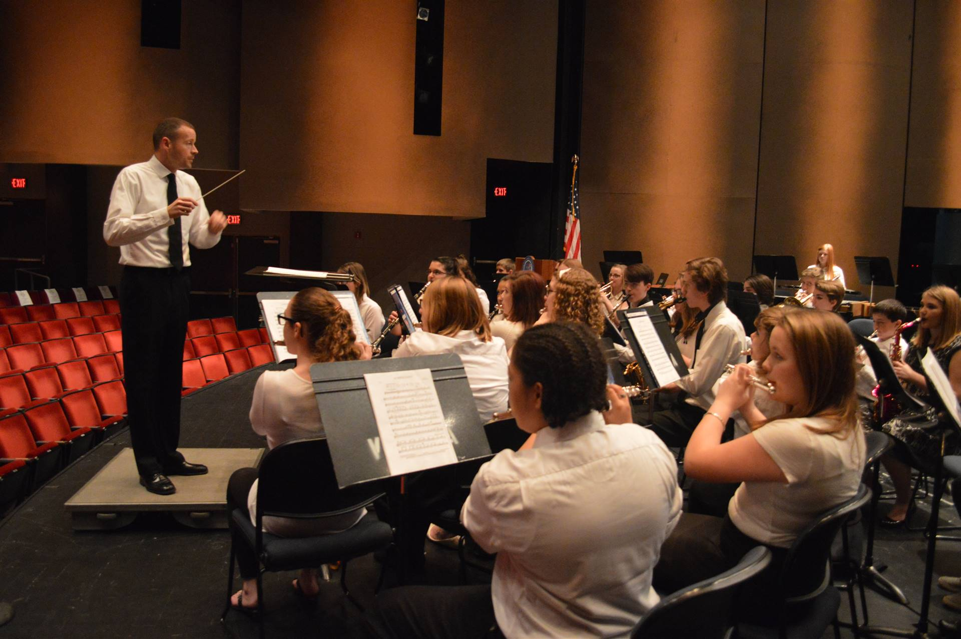Jr High Band Rehearsal with Guest Conductor, Chad Sheridan