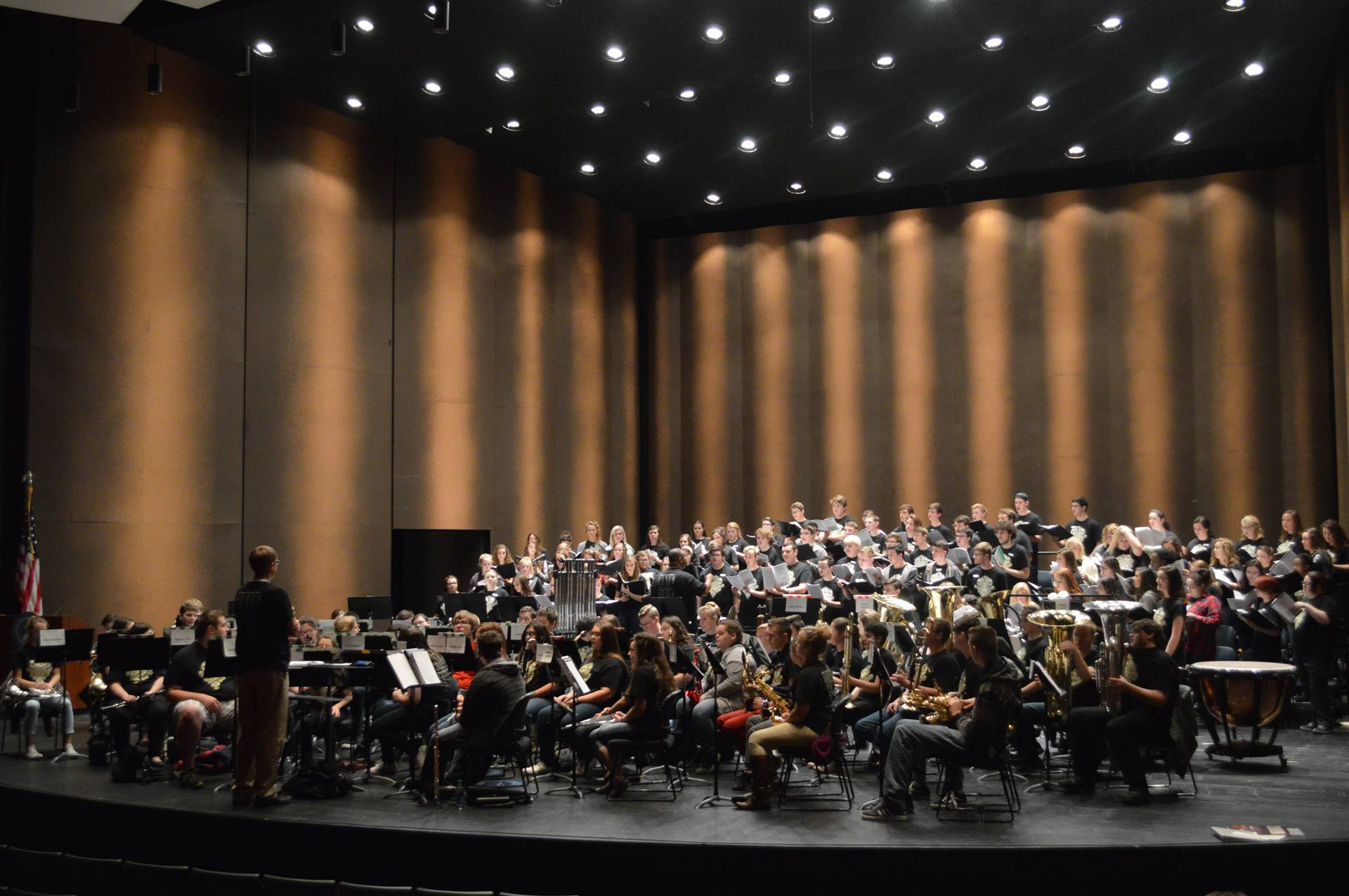 Combined Choir and Band Rehearsal at SSU