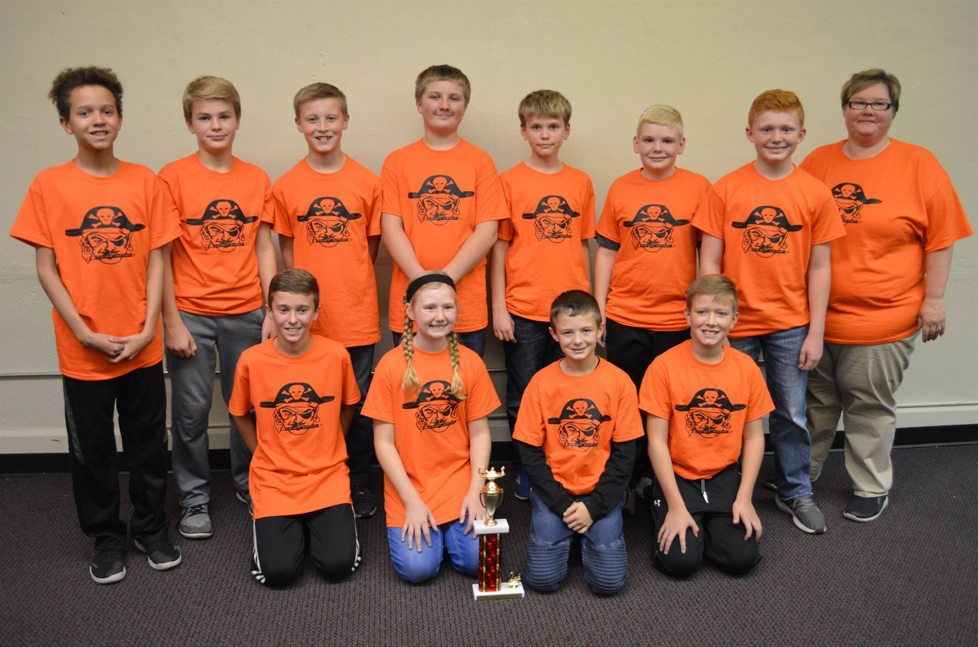 2018 Middle School Quiz Bowl Runners-Up