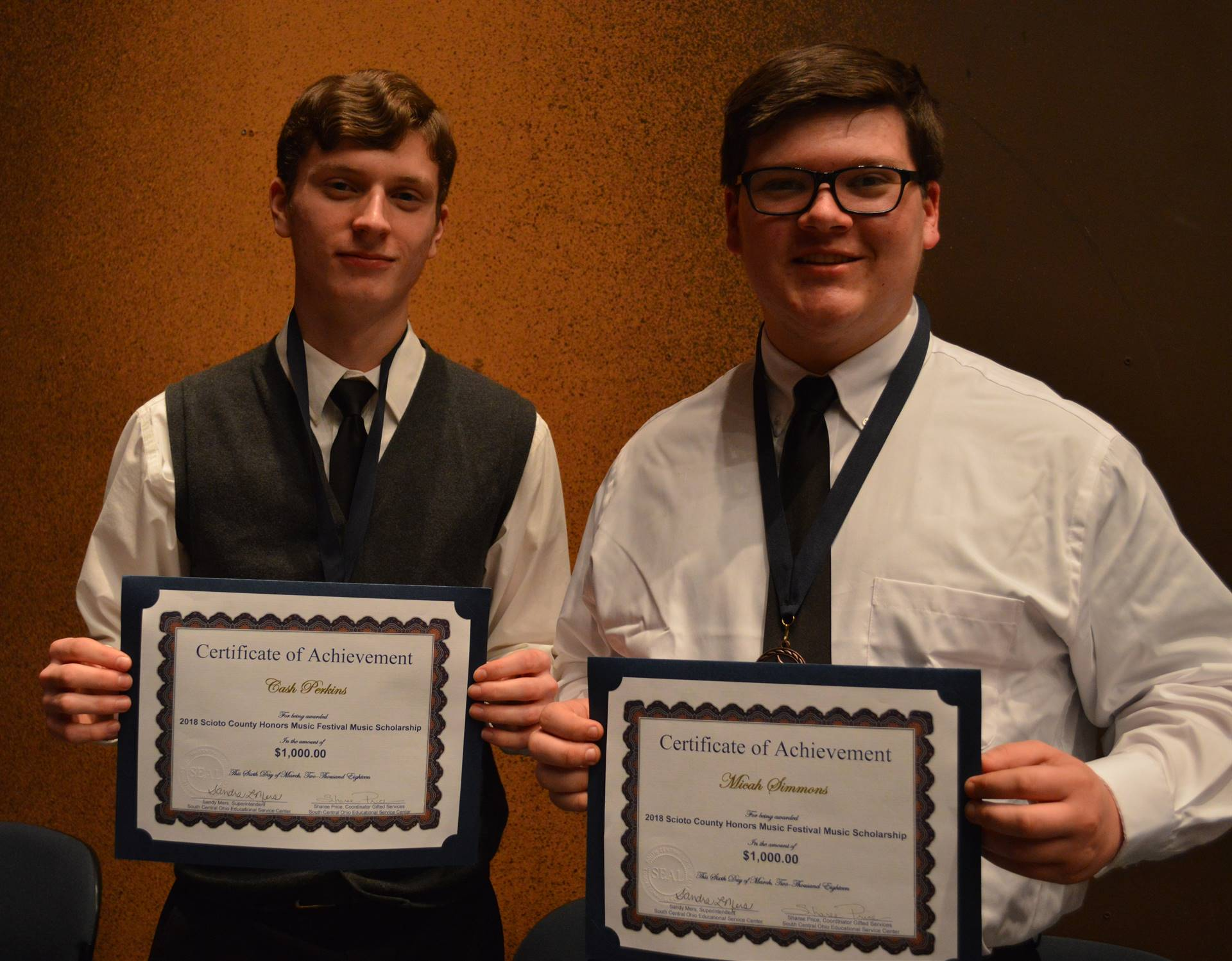 2018 Scioto County Honors Music Festival Scholarship